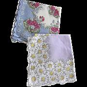 Two Floral Handkerchiefs