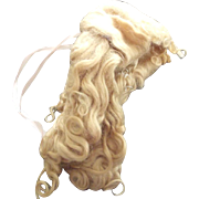 Long Blonde Mohair Wig