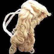 Long Blonde Mohair Wig