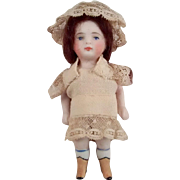 All Bisque Doll With Fancy Boots