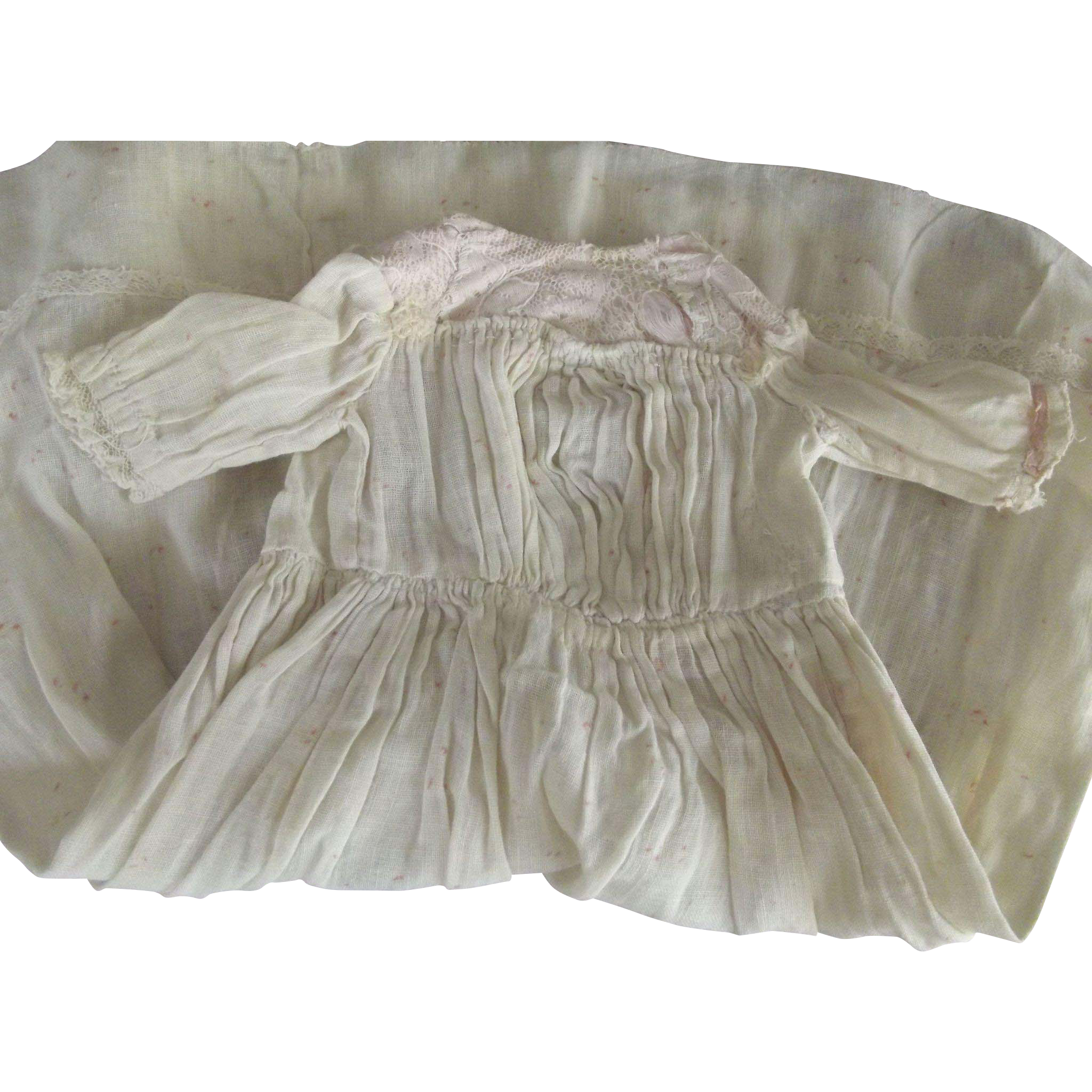 Cotton Dress With Pink Bodice