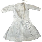 Cotton Dress With Insertion Lace  and Ribbon  Beading