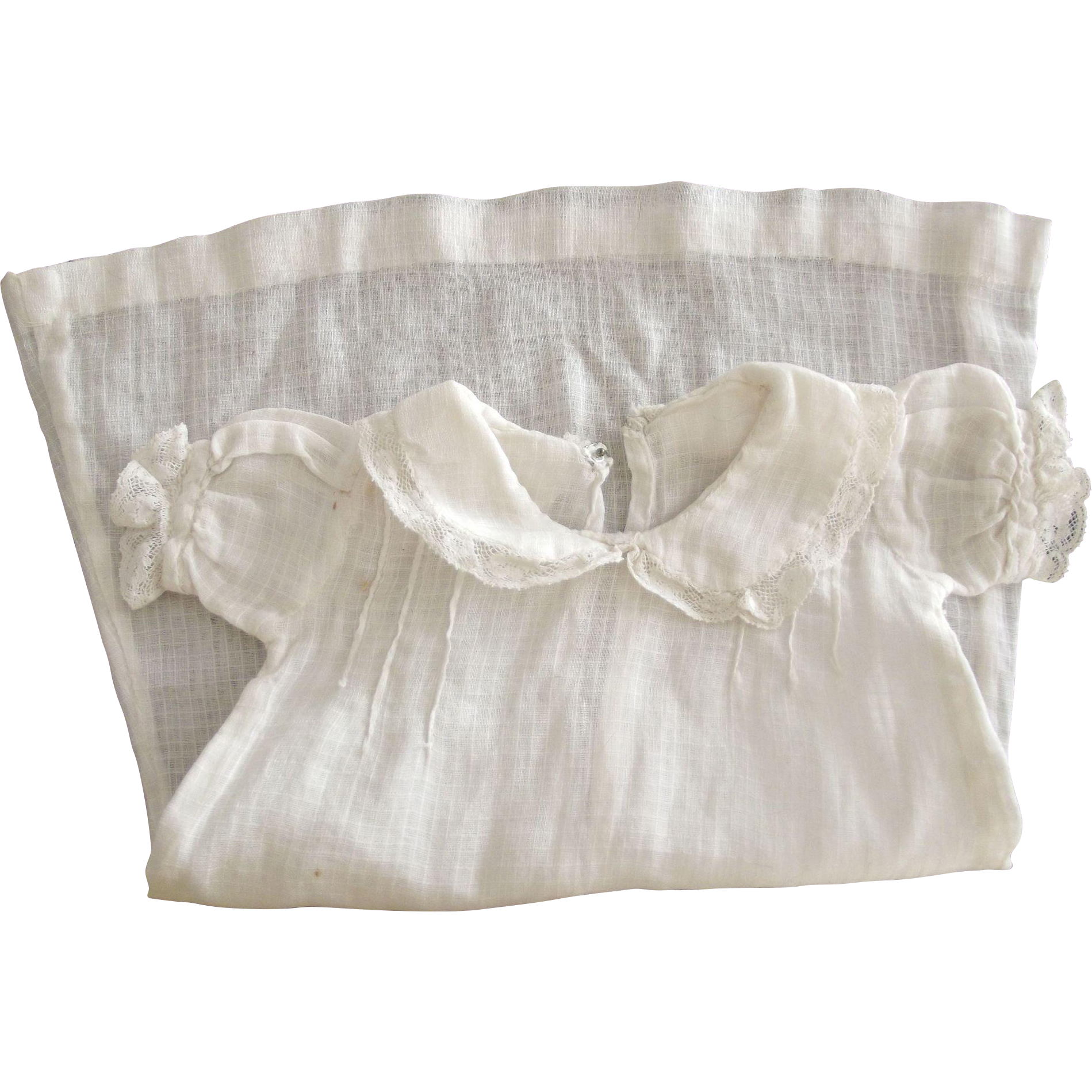 White Doll Dress With Collar