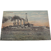 Postcard of U.S.S. Georgia