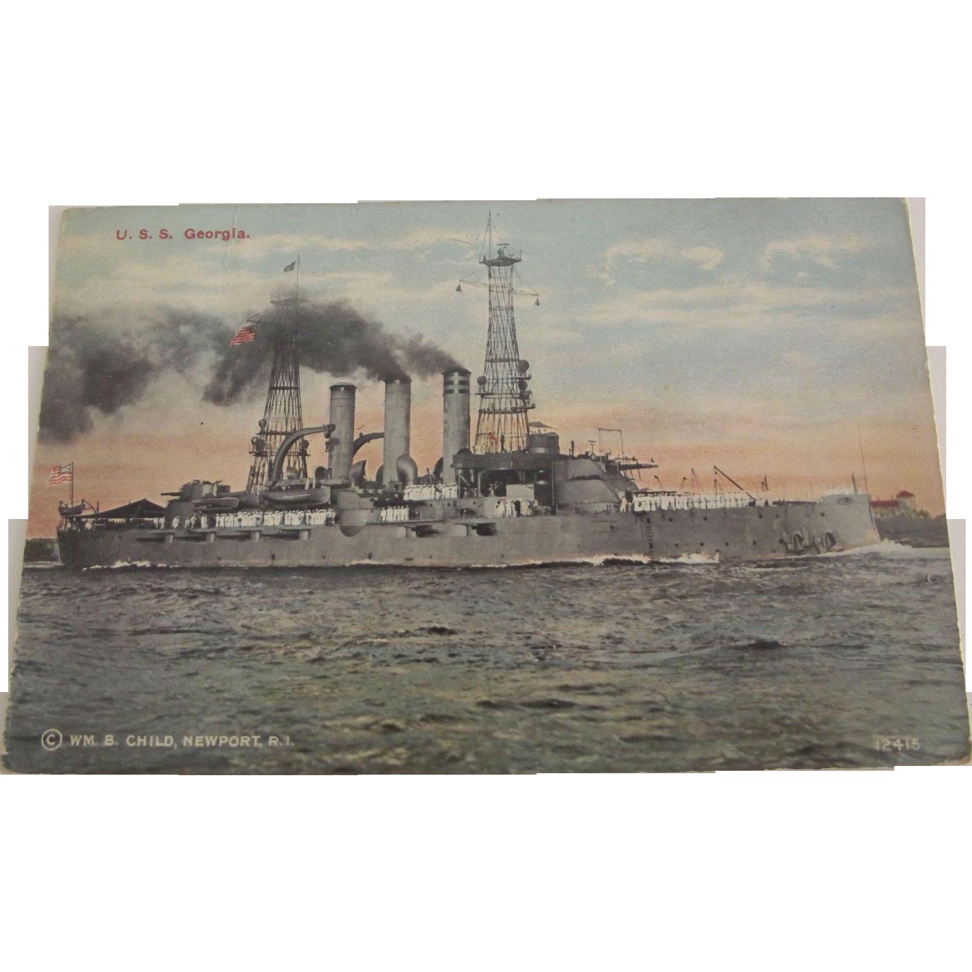 Postcard of U.S.S. Georgia