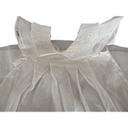 Doll Dress With Embroidered Collar