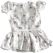 Drop Waist Doll Dress With Lavendar Flower Print
