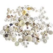 Vintage White Buttons, Some Fancy