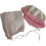 Two Large Doll/Baby Hats