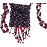 Vintage Beaded Doll Bag