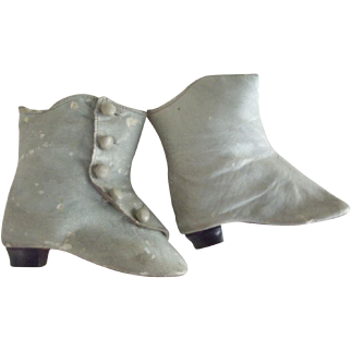 Blue Leather Doll Boots