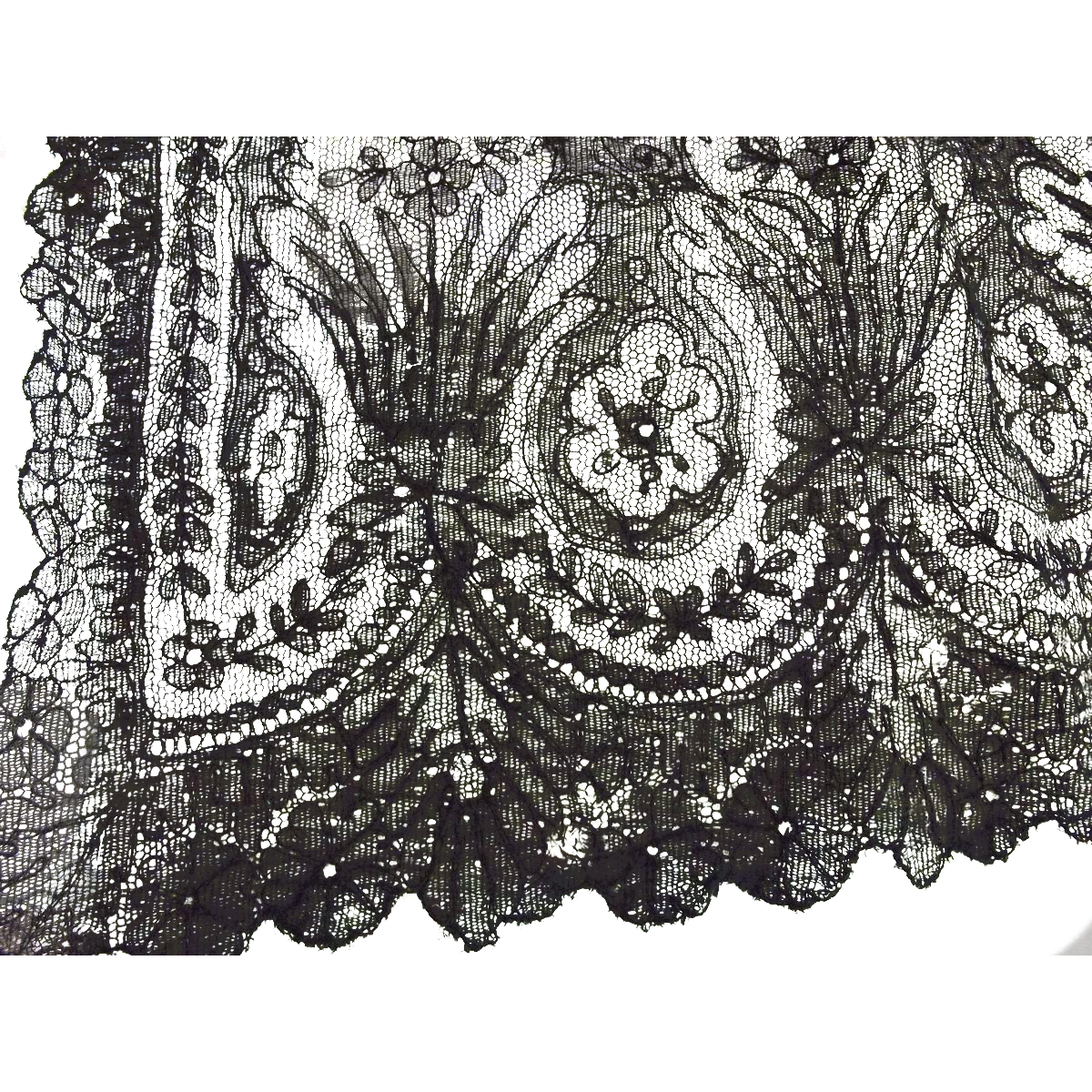 Two Pieces of Early Black Lace
