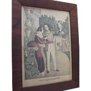 """Currier and Ives Print """"A Soldier's Adieu"""""""