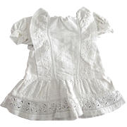 White Cotton Vintage Doll Dress