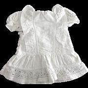 White Cotton Vintage Doll Dress