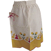 Half Apron With Figures and Floers
