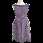 Purple Bib Apron