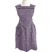 Purple Bib Apron