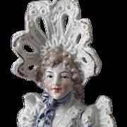 Porcelain Victorian Lady Bust