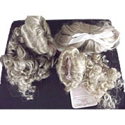 Three Synthetic Mohair Wigs