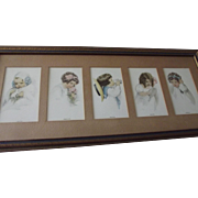 Bessie Pease Gutmann Five Senses Original Frame