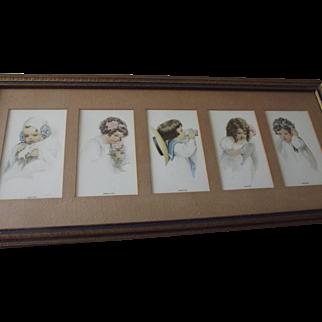 Bessie Pease Gutmann Five Senses Original Frame