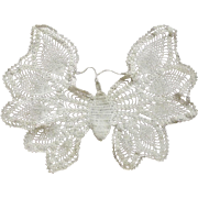 Embroidered Butterfly Doily