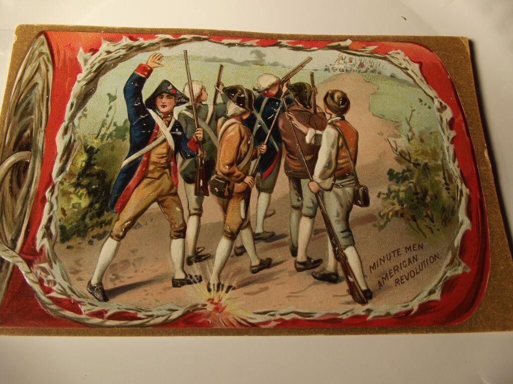 Tuck Minute Men Postcard