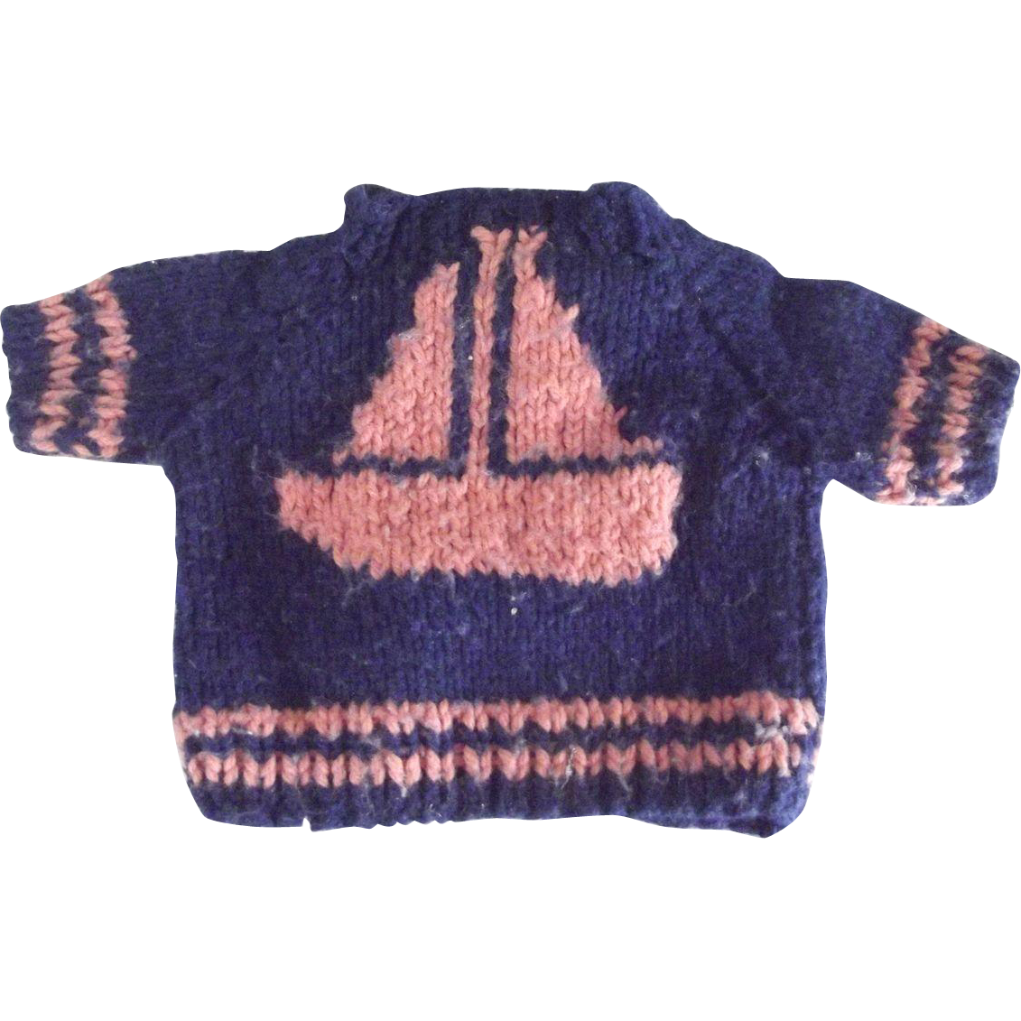 Sweater With Sailboat  For A Doll or Bear