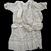 Early Net  Doll Dress Blue Trim