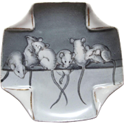 Porcelain Dish With Mice