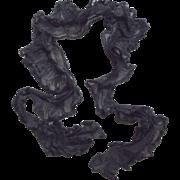 Victorian/Edwardian Black Lace Neck Piece, Boa, Scarf, Wrap, Mourning Stole, Repurpose, Trim