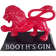 Booth's Gin Lion,Advertising Figure, Bar Sign