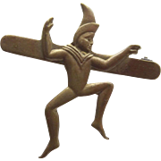 Brownie Scout Pin With Dancing Pixie