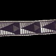 Old Silk and Metal Ribbon Spool Pelgram and Meyer Pre 1927 Art Deco Design