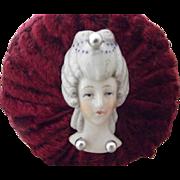 Flatback Pincushion Head On Cushion
