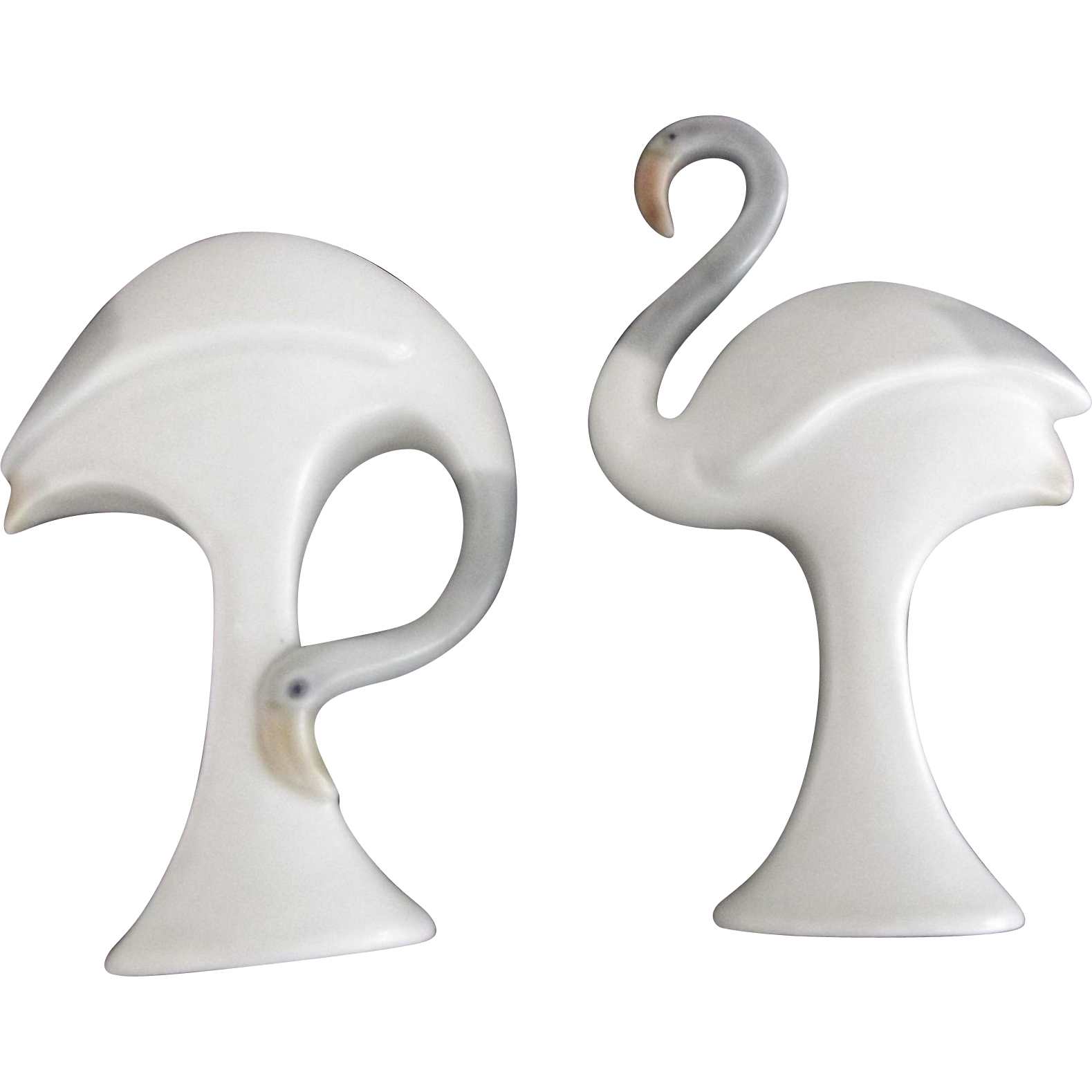 Pair of Porcelain Crane Figurines