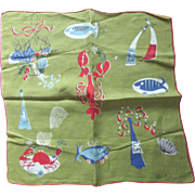 Pat Prichard Sea Creatures Handkerchief