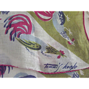 Tammis Keefe Handkerchief With Roosers