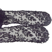 Victorian Black Lace Sash or Neck Trim