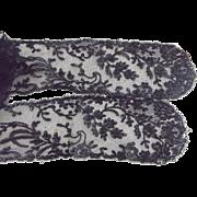 Victorian Black Lace Sash or Neck Trim