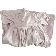 Lace Trimmed Pink Flannel Doll Dress