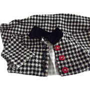 Black and White Doll Coat