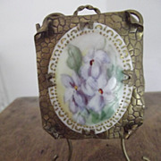 Brass Frame With Flowers On Porcelain For Doll House