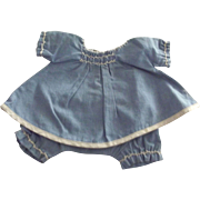 Two Piece Hand Stitched 1940's Outfit For a Chubby Doll With Smocking