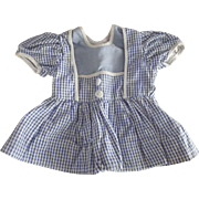 Blue Cotton Check dress 40's or 50's