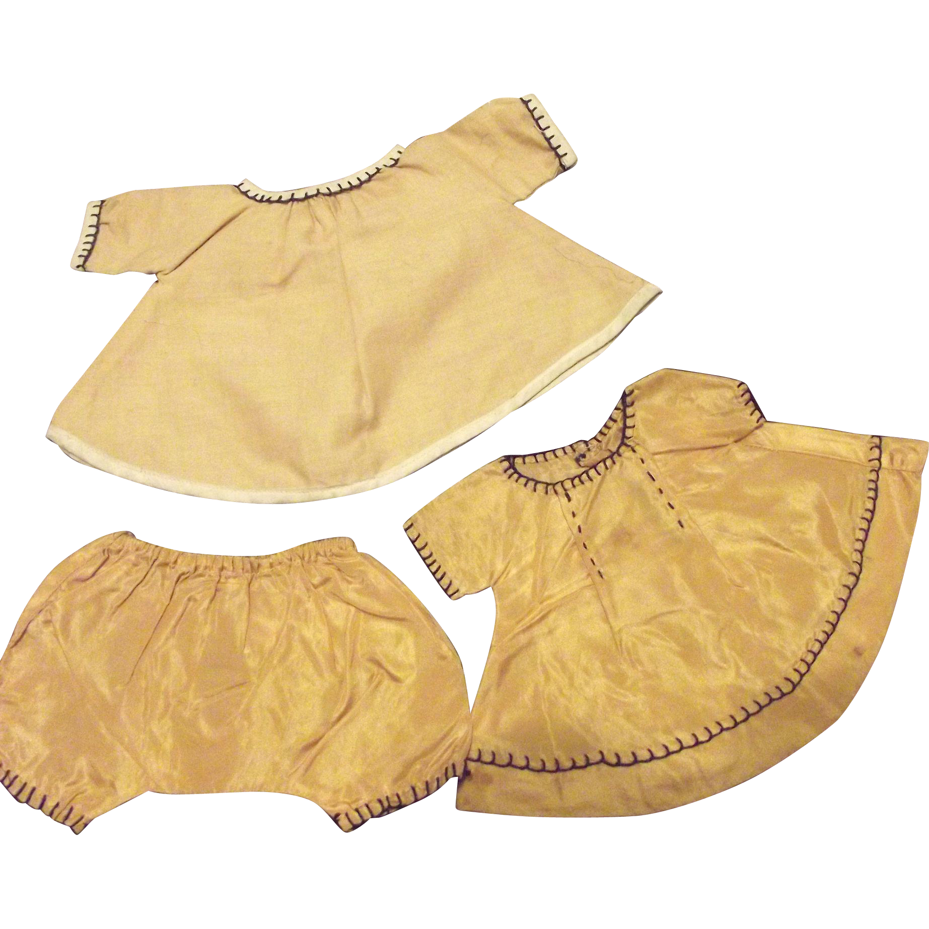Two Small Doll Dresses and One Panty For Chubby Doll