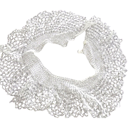 White Crocheted Collar