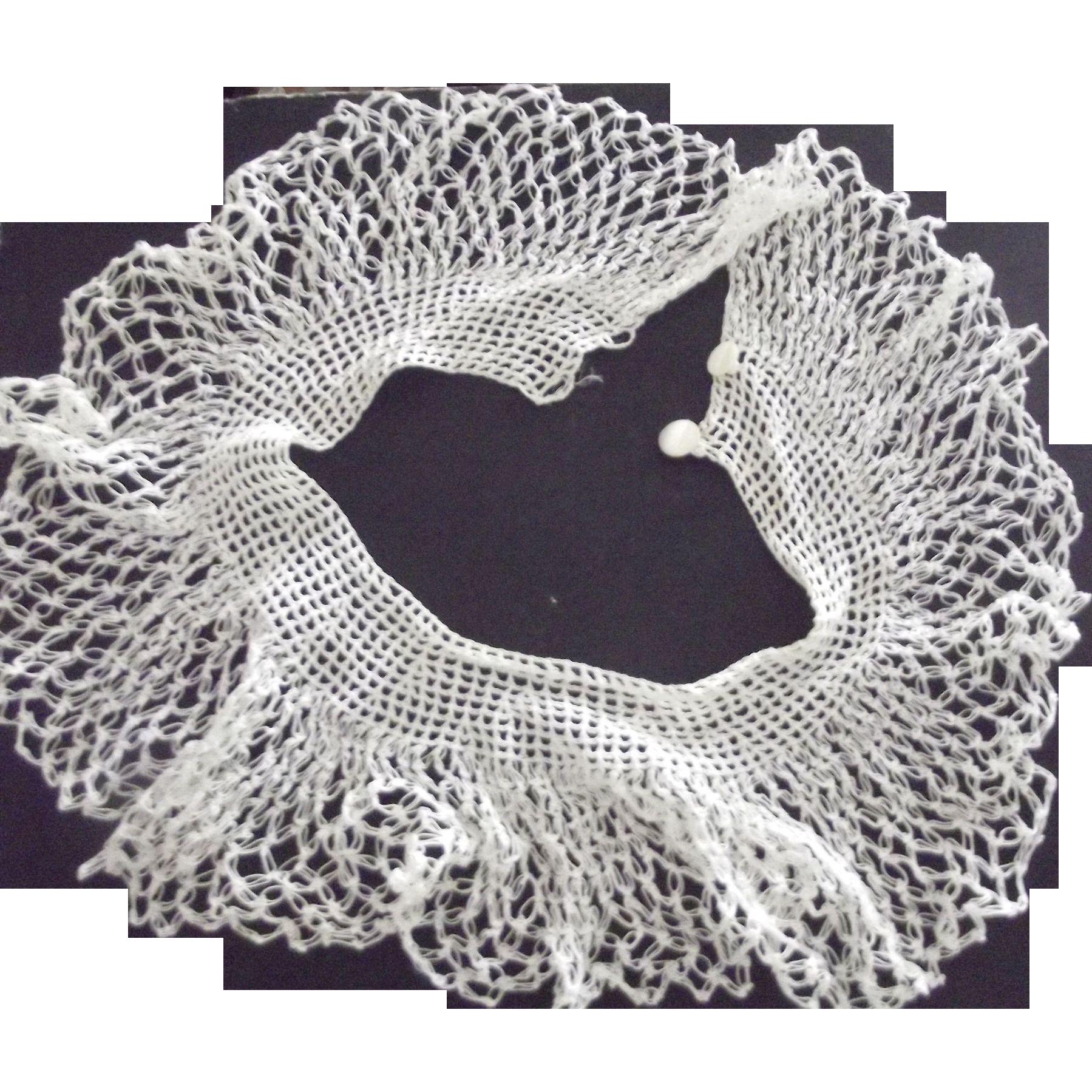 White Crocheted Collar