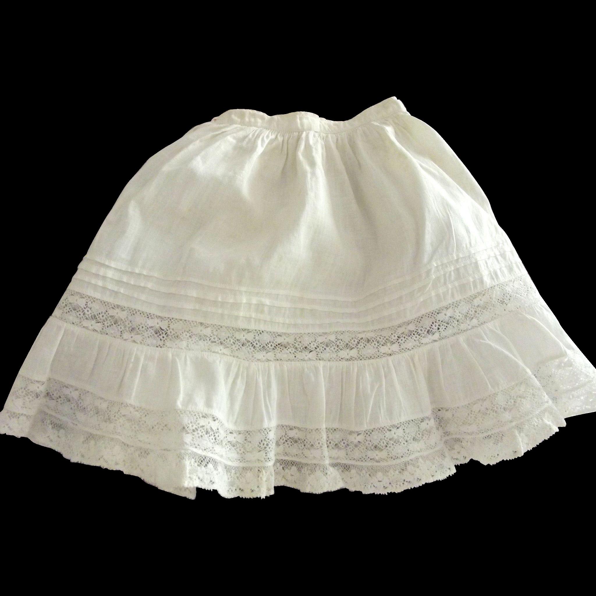 Victorian/Edwardian Doll Half Slip